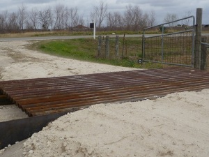 Cattle guard installed
