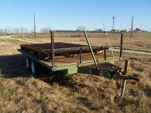Cattle guard waiting to be installed