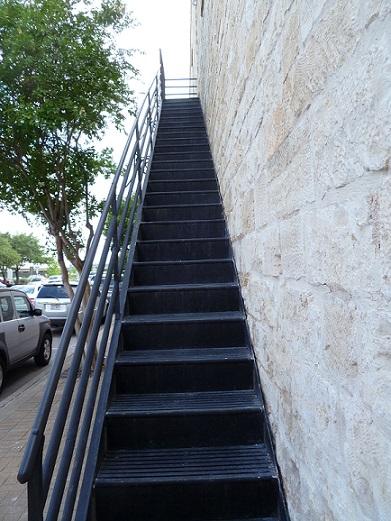 An outdoor staircase