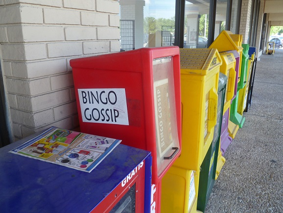 Bingo Gossip newspaper container