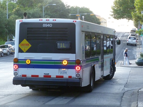 An uncloaked city bus