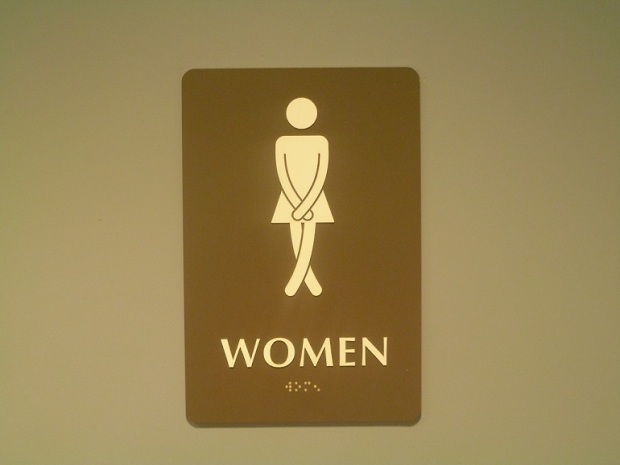 A sign for the women's restroom