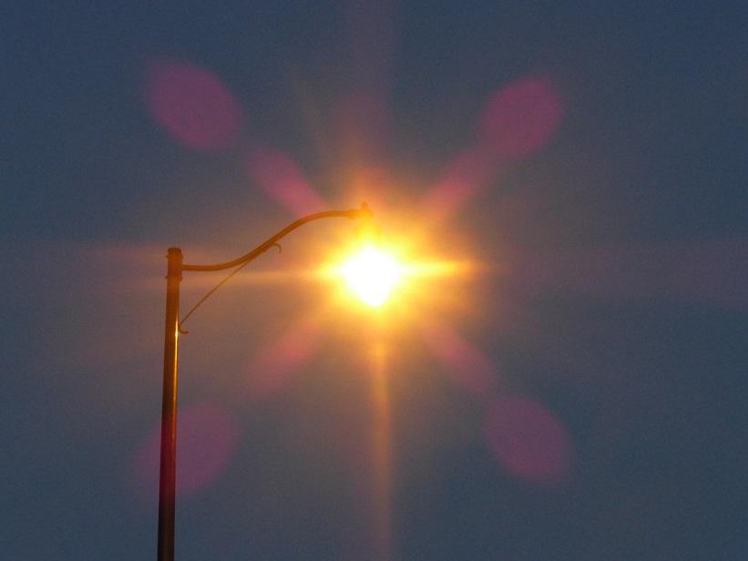 Lamp in the dawn