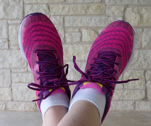 New pink running shoes