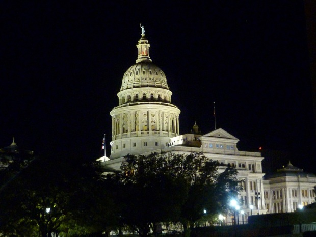 Photo of the Texas Capitol at night taken April 05, 2011
