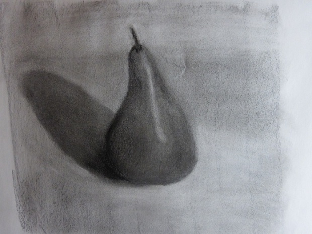 First sketch of the red pear