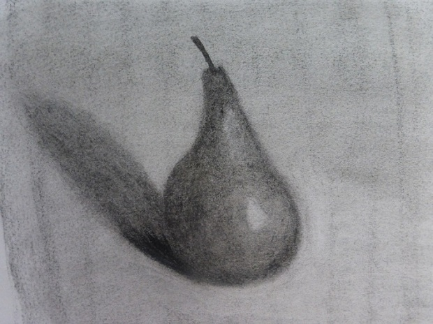 My second effort at sketching the red pear.  A better result.