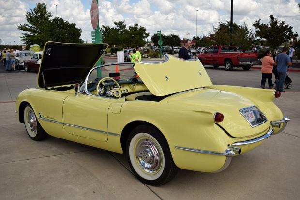 A yellow Corvette
