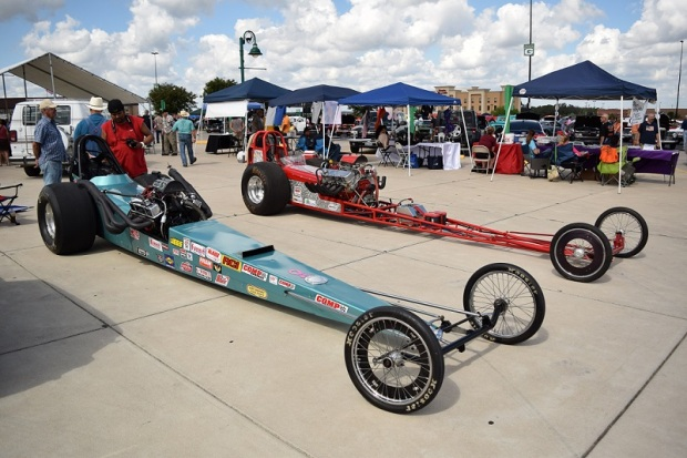 Two racing cars