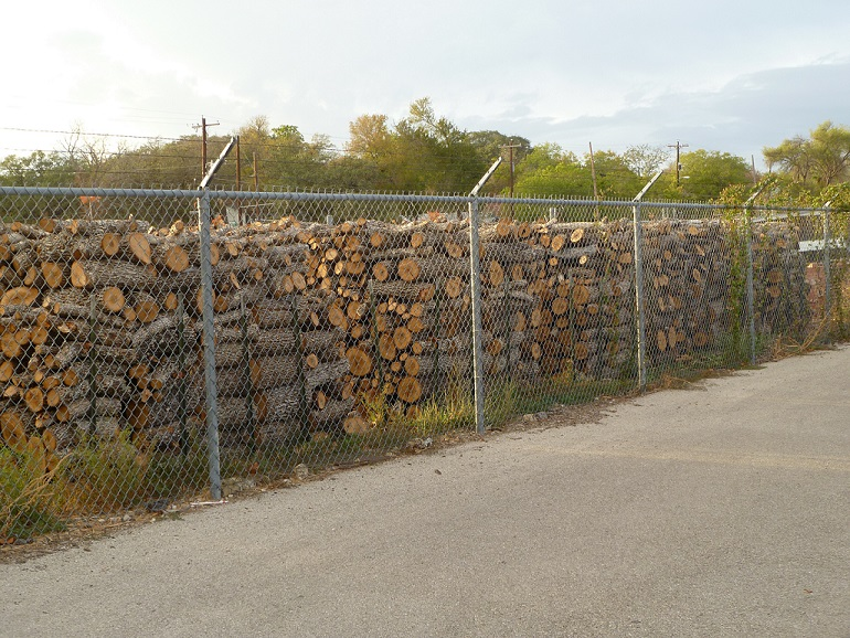 Stacks and stacks of chopped wood
