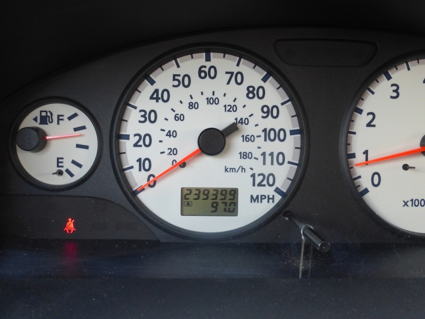 The mileage display of 239,399