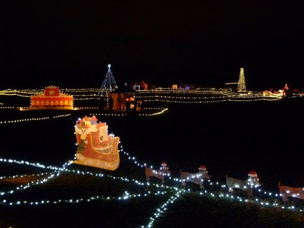 Buda, Texas; The Trail of Lights during the Christmas season