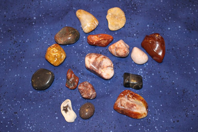 The rocks after they have been tumbled