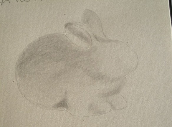 A sketch of a ceramic rabbit