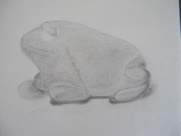 Sketch of a stone frog
