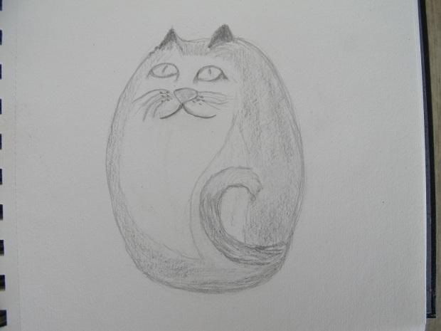 Sketch of the cat trinket