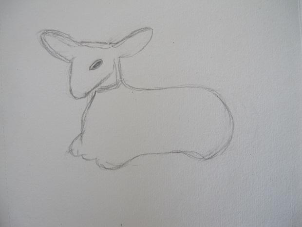 Sketch of the Avon Deer bottle