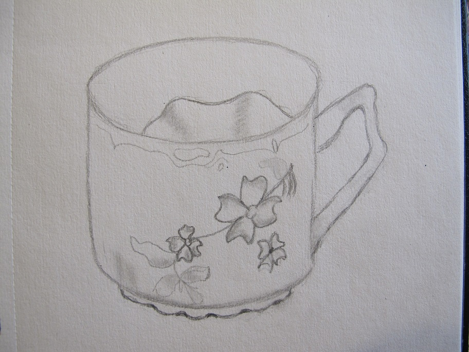 Sketch of a mustache cup