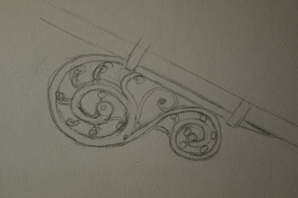 Straw decoration sketch