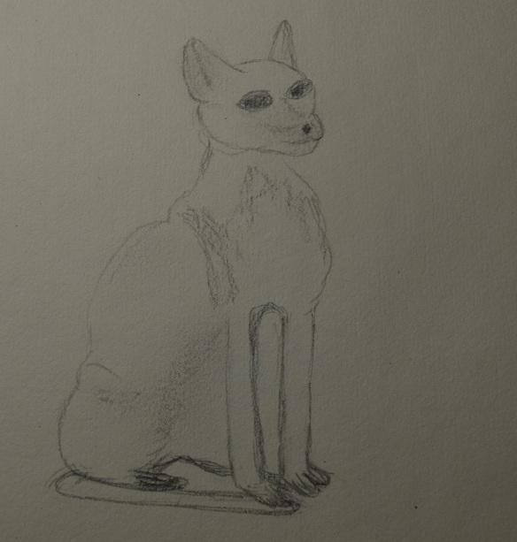 Cat statuette sketch