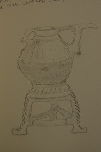 Sketch of the spouted jar