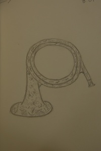 Sketch of the ceramic horn