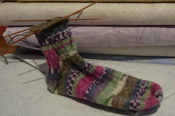 Knitted sock by Barbara Taylor of Bastrop