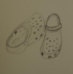 Sketch of my summer Crocs