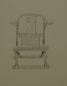 Sketch of the foldable chair