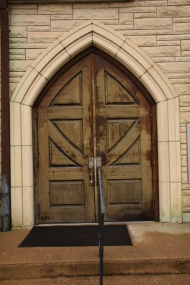 An old church door