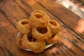 Onion rings (Texas size) at Grist Mill