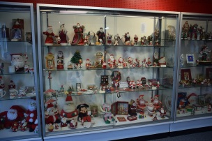 A small portion of the Santa Claus collection
