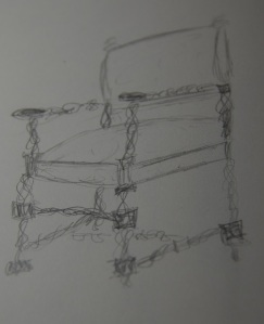 Loose sketch of the agate chair