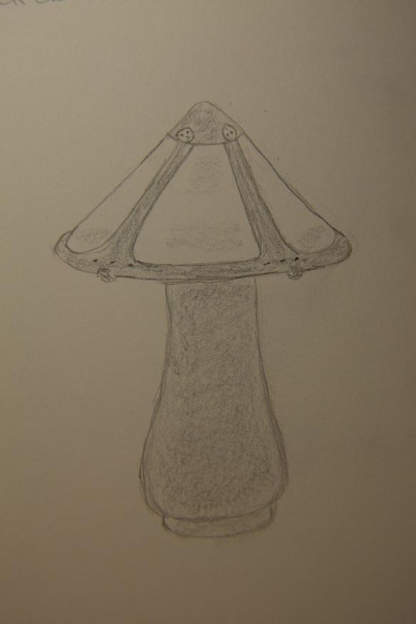 Sketch of copper lamp
