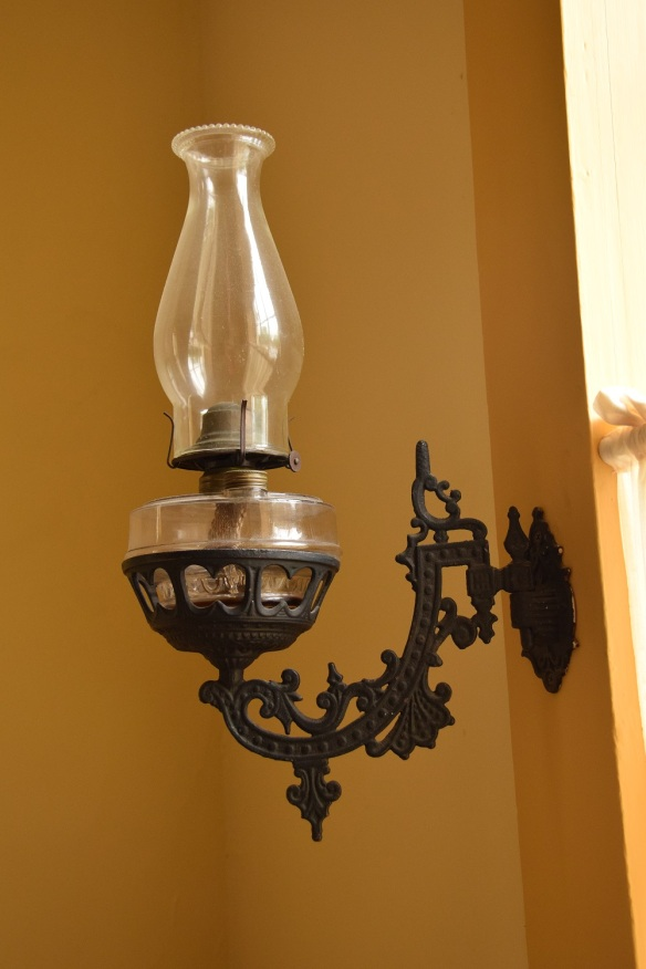Oil lamp, attached to a wall