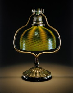 Designed by Louis Comfort Tiffany, circa 1902-1912, New York; glass and bronze