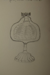 Sketch of electric lamp