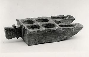 Iran, Nishapur; 9th-10th century; Steatite, carved and incised