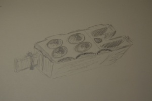 Sketch of the stone oil lamp