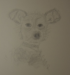 Sketch of Fuzzy the Dog