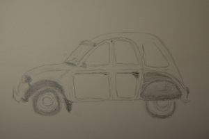 Sketch of the Citroen car