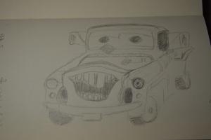 121 Smiling Pickup Sketch s