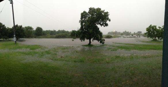Front yard lake