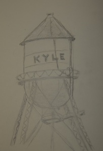 Sketch of the Kyle Water Tower