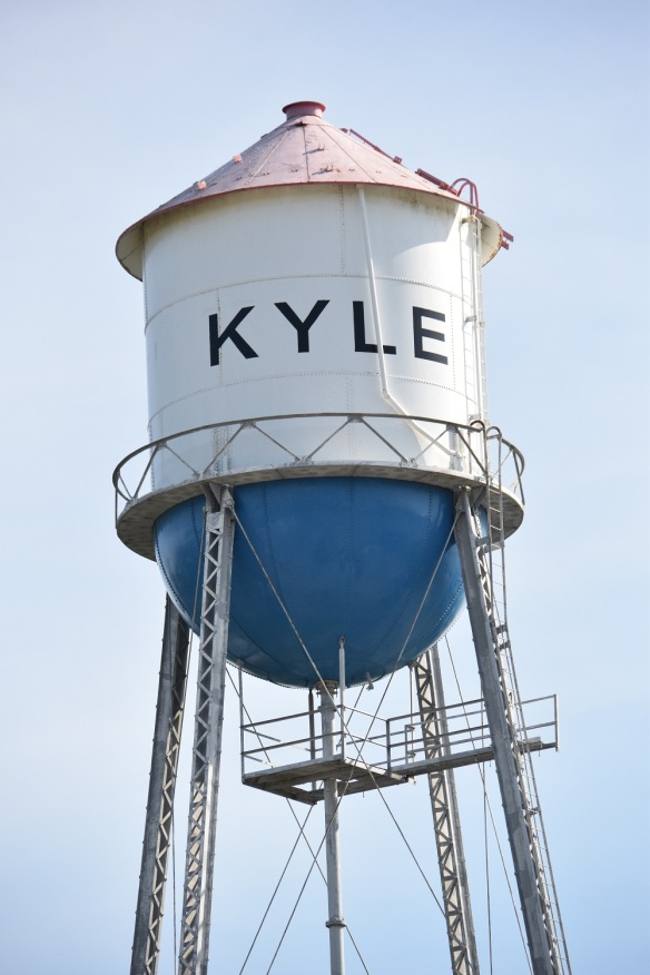 Water tower in Kyle, Texas