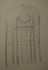 Sketch of Cedar Creek Water Tower