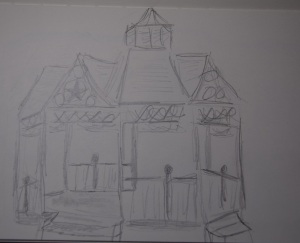 Sketch of gazebo