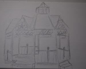 Sketch of gazebo