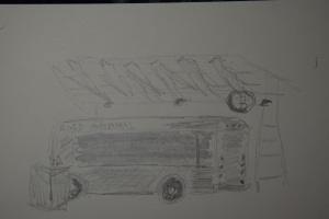 Sketch of a bus at Station B