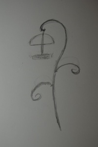 Sketch of a bird feeder